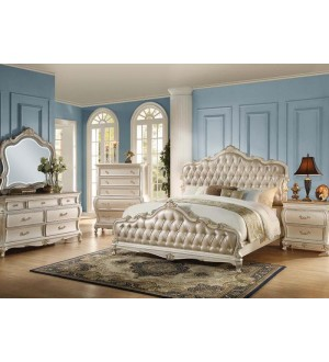 ACME Chantelle Pearl White 5pc Bedroom Set