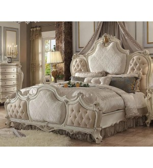 ACME- PICARDY ANTIQUE PEARL CK BED