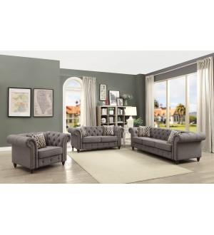 ACME - Aurelia fray linen sofa