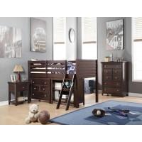 ACME-LACEY TWIN LOFT BED + DESK