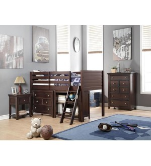 ACME-LACEY TWIN LOFT BED + DESK