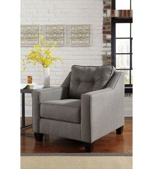 Ashley Brindon Contemporary Chair with Track Arms & Tufted Back