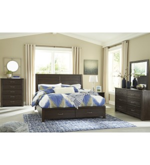 Ashley-Darbry Queen Panel Bed with Storage