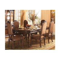 Ashley North Shore Dining Set-Extension Table+6 Side Chairs+2 Arm Chairs