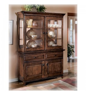 Ashley Furniture Larchmont - Burnished Dark Brown Dining Room Buffet