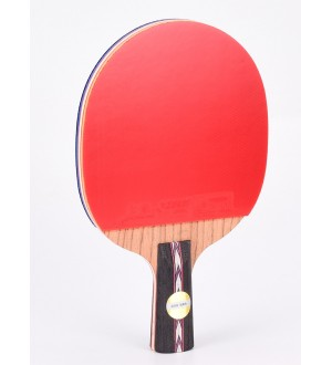DHS HURRICANE  狂飚 NO.5 SHAKEHAND RACKET -Short Handel