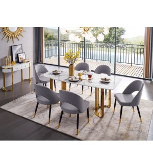 ESF Extravaganza Collection-Gold Marble Dining Room