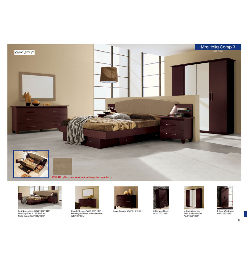 Miss Itlia 7pcs Bedroom set Queen