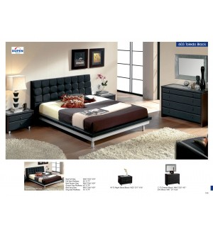 ESF Toledo 603 Black Bedroom Set