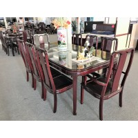 Rose Wood 9pcs Dinning Set