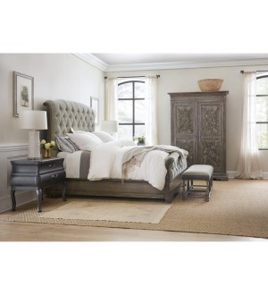 AHK-Woodlands Queen Upholstered Bed