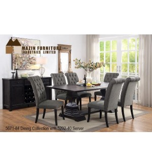 MZ 5671-84 7 pcs Dinning Room Set