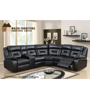 Mazin 9229BLK- Sectional Sofa