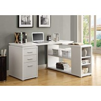 Monarch-COMPUTER DESK - WHITE LEFT OR RIGHT FACING CORNER