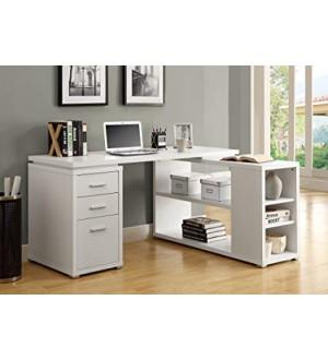 Monarch-COMPUTER DESK - WHITE LEFT OR RIGHT FACING CORNER