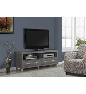 "Monarch-TV STAND - 60""L / DARK TAUPE WITH 4 DRAWERS"