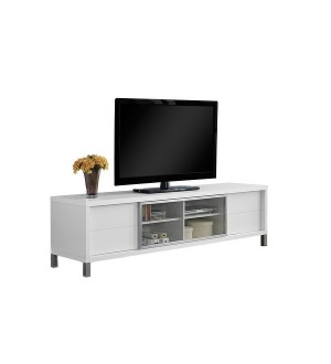 Monarch-70 Inch Wide TV Stand with 4 Storage Drawers - White