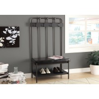 """Monarch-BENCH - 60""""H / CHARCOAL GREY METAL HALL ENTRY"""