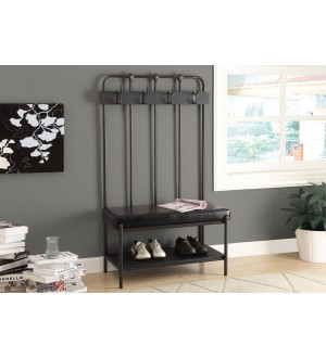 "Monarch-BENCH - 60""H / CHARCOAL GREY METAL HALL ENTRY"
