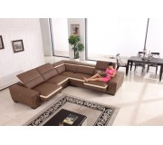 F1381 Sectional Top Grain Sofa