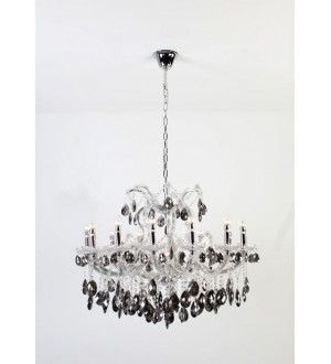 AF-Smoked Grey Asfour Crystal Chandelier 36""