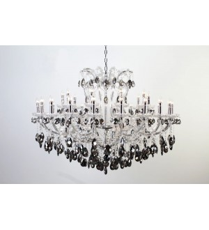 AF-Smoked Grey Asfour Crystal Chandelier 50""