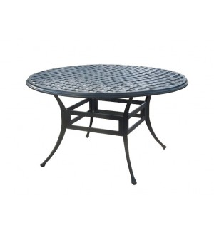 "OnSight Island Aluminum 52"" Round Dining Table"