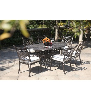 OnSight Maxwell Oval Dining Set-7pcs