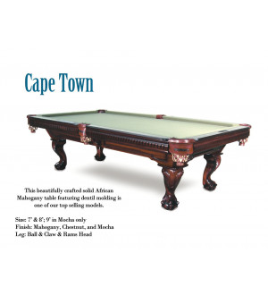 Captown 8' Pool Table with starter kit