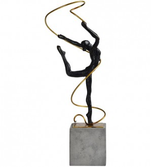 Renwil STA541 Bogart Gold with Concrete Statue