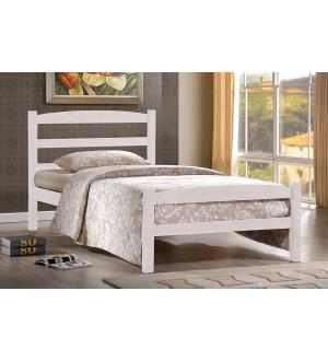 TT Platform Bed in White Colour