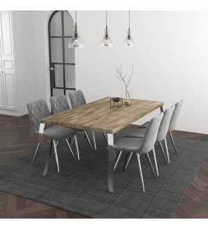 WW-Natalia/Marlo 7pc Dining Set, Grey