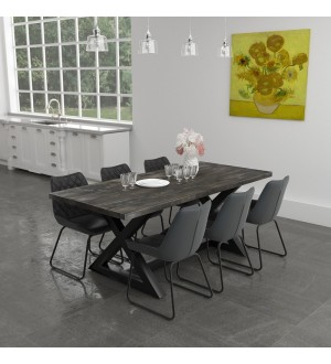 WW-Zax/Calvin 7pc Dining Set, Charcoal