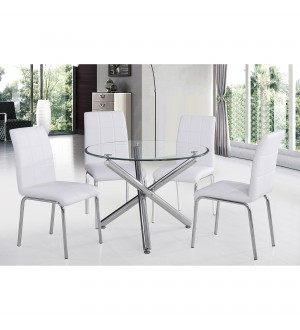 WW-Solara II 5pc Dining Set, White