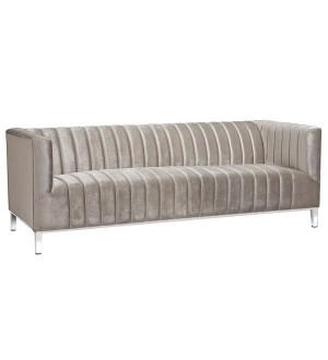 Florian Grey Velvet 3 Seater