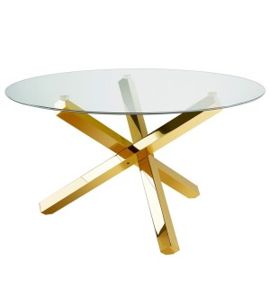 XC-HELEN DINING TABLE GOLD