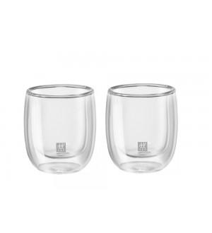 ZWILLING Sorrento Double Wall Espresso Glass – 2 Piece Set 39500-075