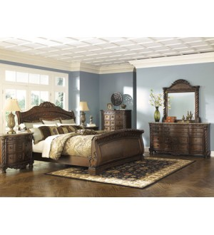 Ashley B553 NorthShore 8pcs King Bedroom set